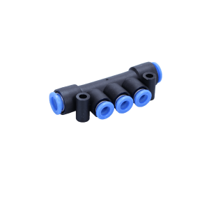 KM13, One-touch Fittings Manifold Series - Port A One-touch Fitting, Port B One-touch Fitting - KM13-06-08-3